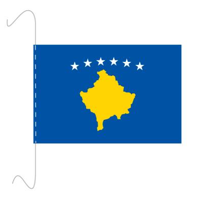 Tischfähnli, inkl.Kordel Kosovo, 10 x 15 cm