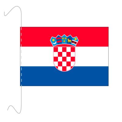 Tischfähnli, inkl.Kordel Kroatien, 10 x 15 cm