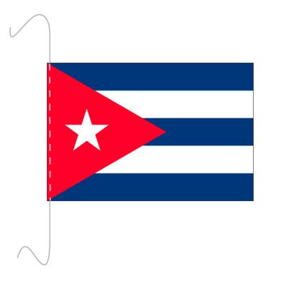 Tischfähnli, inkl.Kordel Kuba, 10 x 15 cm