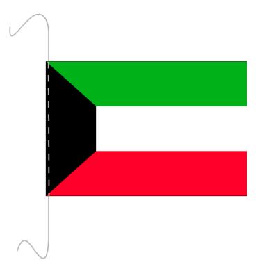 Tischfähnli, inkl.Kordel Kuwait, 10 x 15 cm
