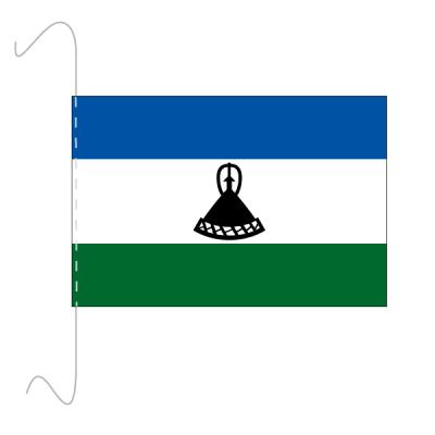 Tischfähnli, inkl.Kordel Lesotho, 10 x 15 cm