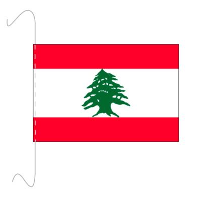 Tischfähnli, inkl.Kordel Libanon, 10 x 15 cm