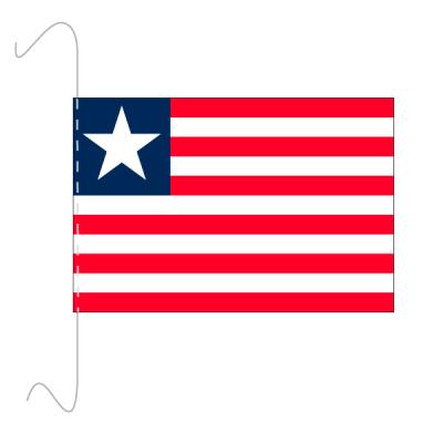 Tischfähnli, inkl.Kordel Liberia, 10 x 15 cm