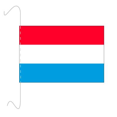 Tischfähnli, inkl.Kordel Luxemburg, 10 x 15 cm