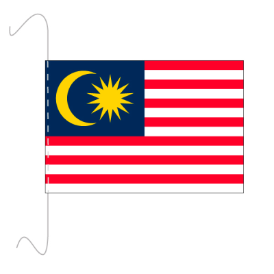 Tischfähnli, inkl.Kordel Malaysia, 10 x 15 cm