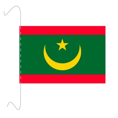 Tischfähnli, inkl.Kordel Mauretanien, 10 x 15 cm