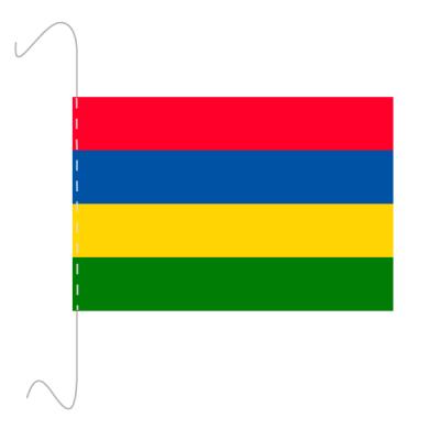 Tischfähnli, inkl.Kordel Mauritius, 10 x 15 cm