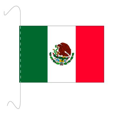 Tischfähnli, inkl.Kordel Mexiko, 10 x 15 cm