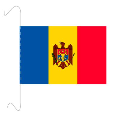 Tischfähnli, inkl.Kordel Moldawien, 10 x 15 cm