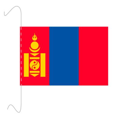 Tischfähnli, inkl.Kordel Mongolei, 10 x 15 cm