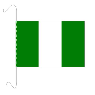 Tischfähnli, inkl.Kordel Nigeriam, 10 x 15 cm