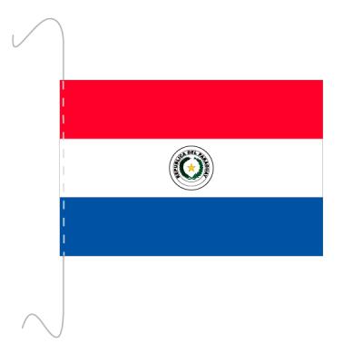 Tischfähnli, inkl.Kordel Paraguay, 10 x 15 cm