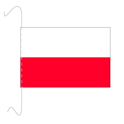 Tischfähnli, inkl.Kordel Polen, 10 x 15 cm