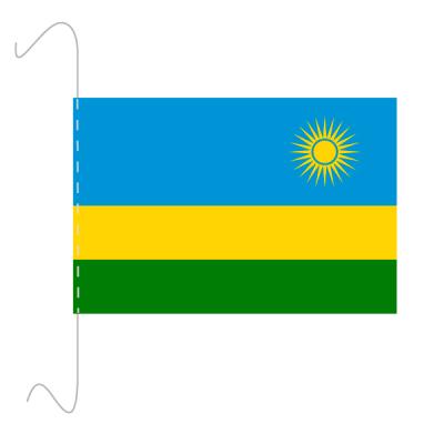 Tischfähnli, inkl.Kordel Ruanda, 10 x 15 cm