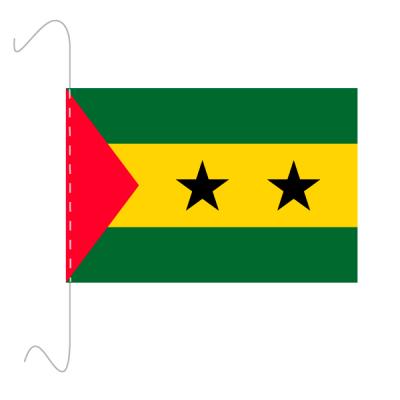 Tischfähnli, inkl.Kordel São Tomé und Príncipe, 10 x 15 cm