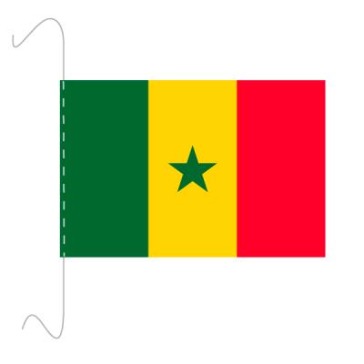 Tischfähnli, inkl.Kordel Senegal, 10 x 15 cm