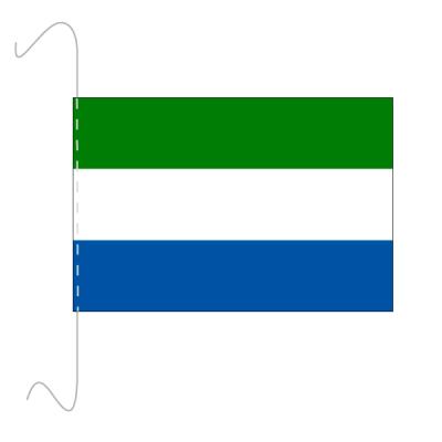 Tischfähnli, inkl.Kordel Sierra Leone, 10 x 15 cm