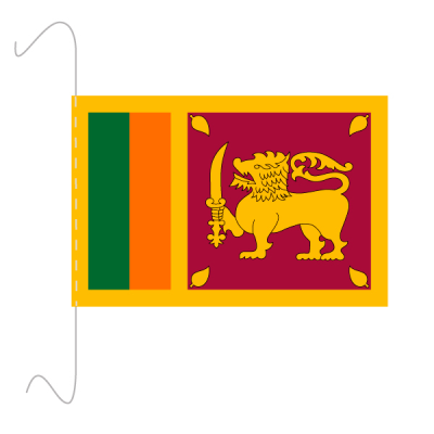 Tischfähnli, inkl.Kordel Sri Lanka, 10 x 15 cm