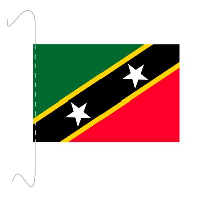 Tischfähnli, inkl.Kordel St. Kitts und Nevis, 10 x 15 cm