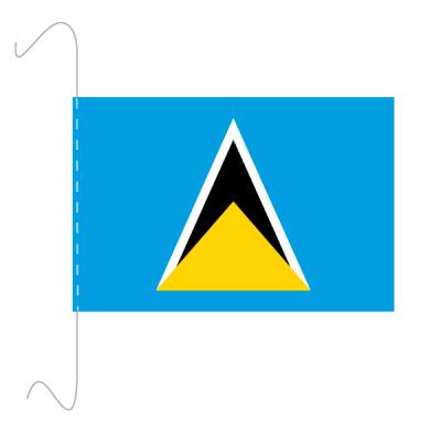 Tischfähnli, inkl.Kordel St. Lucia, 10 x 15 cm