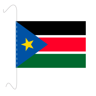 Tischfähnli, inkl.Kordel Südsudan, 10 x 15 cm