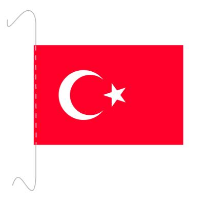 Tischfähnli, inkl.Kordel Türkei, 10 x 15 cm