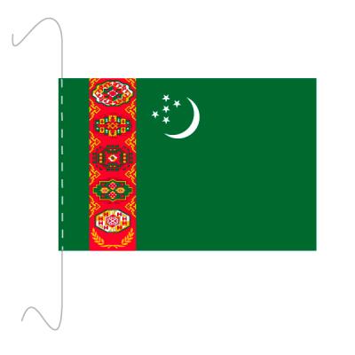 Tischfähnli, inkl.Kordel Turkmenistan, 10 x 15 cm