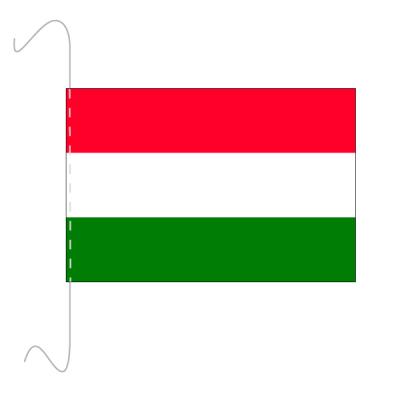 Tischfähnli, inkl.Kordel Ungarn, 10 x 15 cm