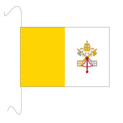 Tischfähnli, inkl.Kordel Vatikan, 10 x 15 cm