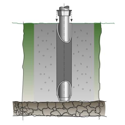 Bodenhülse klein, Länge 71 cm, Ø 11 cm aus Aluminium