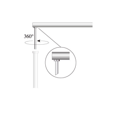 Ausleger für Fahnenbreite 80 cm, Ø 28 mm (OK Coop System)