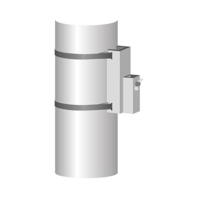 4-Kant-Halterung 25 mm mit Flügelschraube für Kandelaber zu Art. 4610.Q, feuerverzinkt