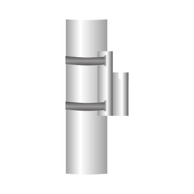Kandelaberhalter für Flaggen  4-Kant 25 mm mit Kerben, feuerverzinkt