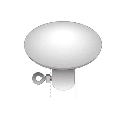 Abschlussdeckel Stahl verzinkt für Fahnenstangen- Ø 35 mm,