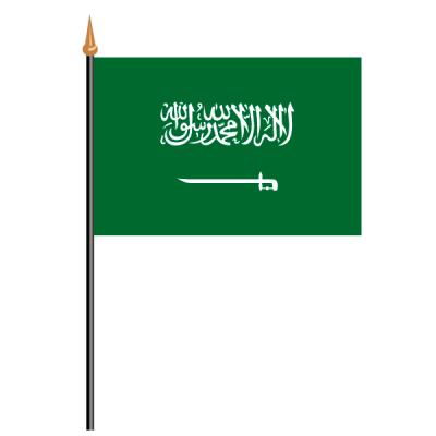 Tischfähnli, an PVC-Stab Saudi Arabien, 10 x 15 cm
