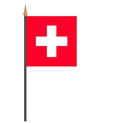 Tischfähnli, an PVC-Stab Schweiz, 10 x 15 cm
