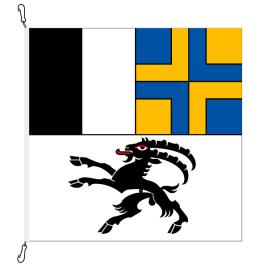 Fahne, Kanton eingesetzt Graubünden, 400 x 400 cm