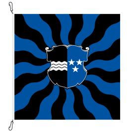 Fahne, geflammt, bedruckt Aargau, 100 x 100 cm