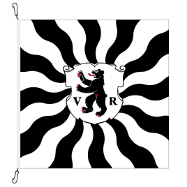 Fahne, geflammt, bedruckt Appenzell AR, 100 x 100 cm