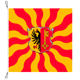 Fahne, geflammt, bedruckt Genf, 100 x 100 cm