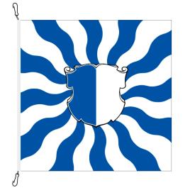 Fahne, geflammt, bedruckt Luzern, 100 x 100 cm