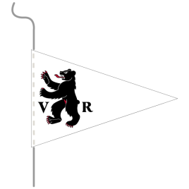 Wimpel, Kanton bedruckt AR, 18 x 27 cm
