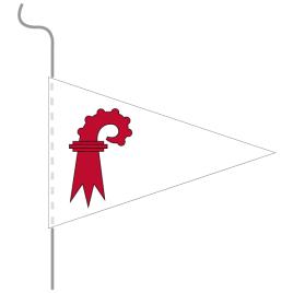 Wimpel, Kanton bedruckt BL, 18 x 27 cm