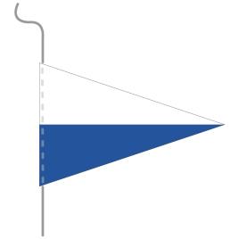 Wimpel, Kanton bedruckt LU, 18 x 27 cm