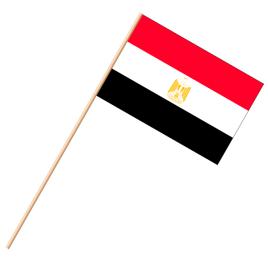 Fahne, an Holzstab 90 cm lang Ägypten, 25 x 35 cm