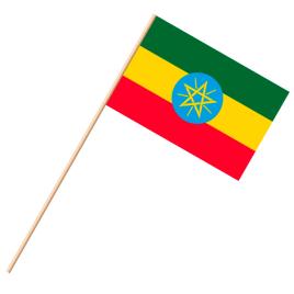 Fahne, an Holzstab 90 cm lang Äthiopien, 25 x 35 cm