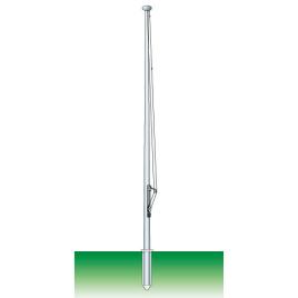 Palo monoblocco a forma conica in alluminio ossidato