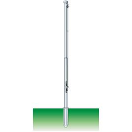 Palo componibile, cilindrico in alluminio ossidato