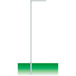 Fahnenmast zylindrisch, 8 m Ø 80 mm Ausleger drehbar 100 cm
