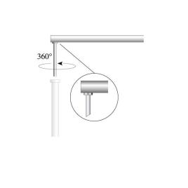 Ausleger für Fahnenbreite 60 cm, Ø 28 mm (OK Coop System)